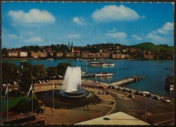 画像1: イギリス アンティークポストカード LUZERN ルツェルン スイス (1)