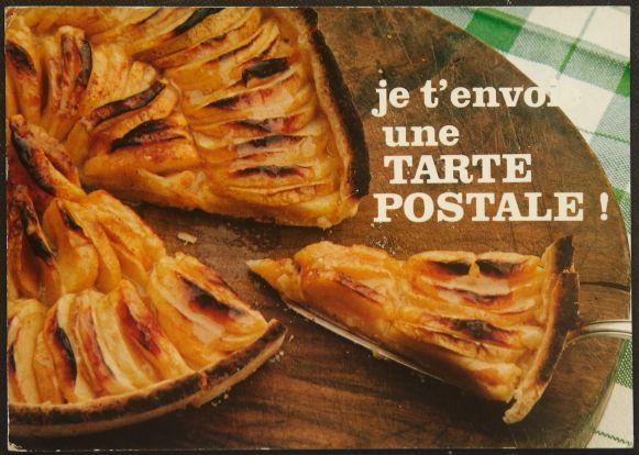 画像1: イギリス 消印あり アンティークポストカード je t'envoie une TARTE POSTALE (1)